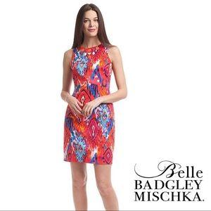 Belle BADGLEY MISCHKA cocktail Ikat Sheath Dress 4